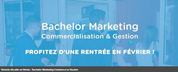 Session de recrutement Bachelor Marketing Commercialisation et Gestion en rentrée décalée