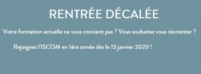 Soirée d'information Spéciale Rentrée Décalée Iscom Paris