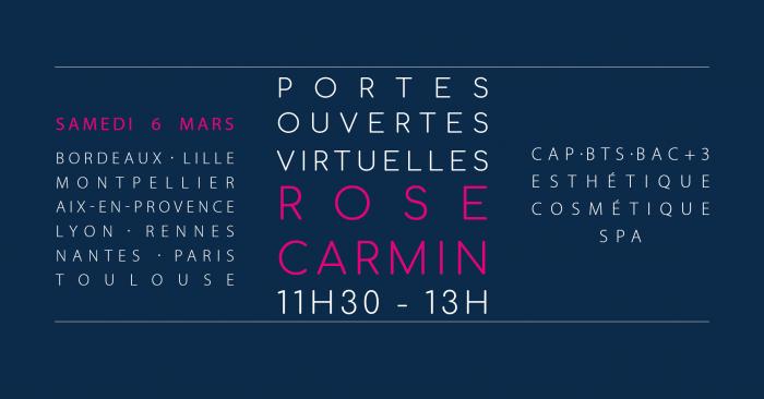 Journée Portes Ouvertes Virtuelles ROSE CARMIN Lyon