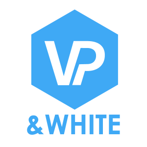logo VP&WHITE